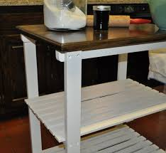 unusual deisgned diy kitchen islands which is painted in bright