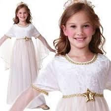 girls kids white nativity angel xmas christmas fairy fancy dress