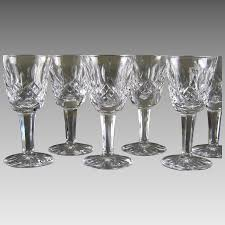 waterford crystal l base waterford crystal cordial glasses lismore set of 6 2 sets