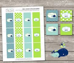 instant download ahoy it u0027s a boy whale green and blue baby