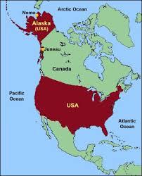 alaska on map map of usa showing alaska maps of usa