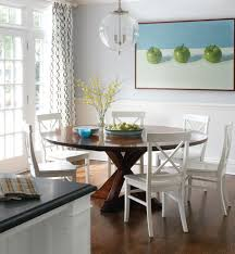 Round Table Dining by Half Round Dining Table Dining Room Contemporary With Gray Dining