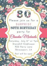 80th birthday invitation any age vintage by 3peasprints