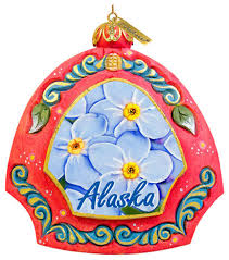 hand painted alaska eagle scenic ornament traditional