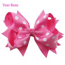 handmade bows 1pcs 5 inches pink kids girl children bows handmade