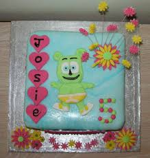 flower power gummibär gummy bear birthday cake gummibär