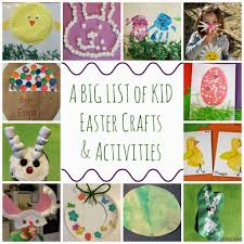 a giant list of easter crafts u0026 activities for kids the chirping