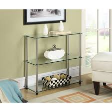 Glass Shelf Convenience Concepts Designs2go No Tools 3 Shelf Bookcase