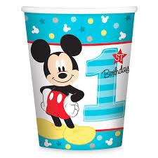 mickey mouse 1st birthday mickey mouse 1st birthday cups shopdisney