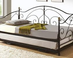 White Wood Daybed With Trundle Daybed Wrought Iron Daybed Decorated With White Wooden Side