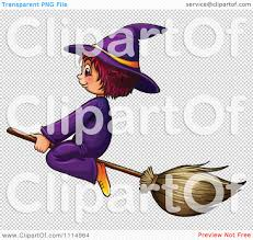 free halloween clip art transparent background clipart cute halloween witch flying on a broomstick royalty free
