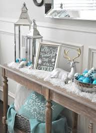 Christmas Table Decoration Ideas Blue Silver by