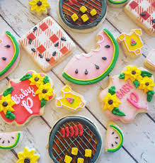 bbq baby shower cookies large hayley cakes and cookies