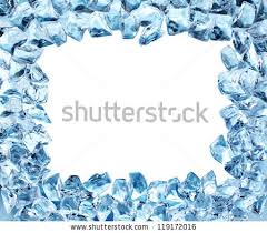 cool frame ice cool frame water drops isolated stock photo 119172016