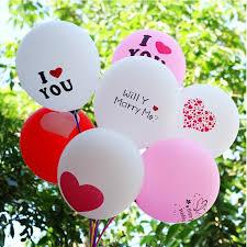 12 inch i love you print love shape balloon propose balloon