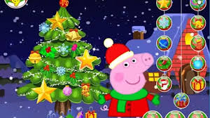 peppa pig christmas tree decoration peppa pig cartoon kids games