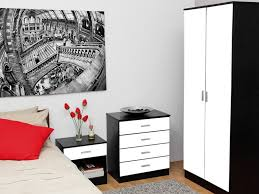 Alpine High Gloss White Bedroom Furniture - White high gloss bedroom furniture set