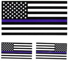 Us Flag Decal Thin Blue Line Black And White American Flag Sticker For Police