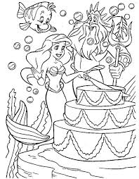 disney mermaid princess ariel birthday coloring pages bulk color