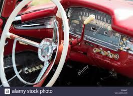 ford galaxie skyline interior detail 1950s american car stock