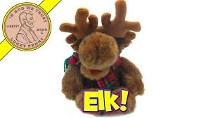 Singing Stuffed Animals Singing Animated Reindeer Or Bloated Moose Stuffed
