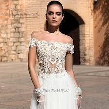 aliexpress com buy hippie wedding dress see through lace