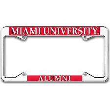 ohio alumni license plate frame miami alumni license plate frame miami