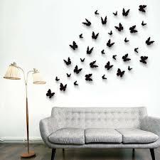 walplus 36pcs 3d black butterflies wall stickers lazada malaysia
