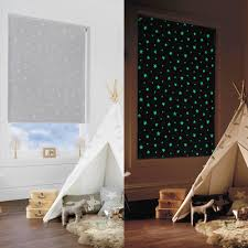 children u0027s glow in the dark stars blackout roller blinds