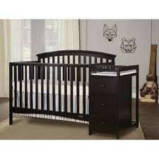 Black Crib With Changing Table Black Crib Changing Table Combo You Ll Wayfair
