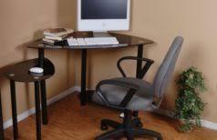 Small Wood Corner Desk Small Corner Desks Black Varnished Wood Small Corner Computer Desk