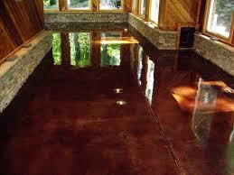 interior painted concrete floors concrete dye painting