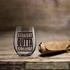 graduation wine glasses outta college graduation wine glass 2017 graduation