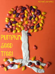 mini monets and mommies pumpkin seed fall tree kids u0027 art