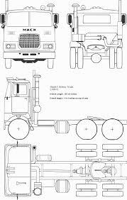 mack f series truck standard cab 1962 blueprint download free