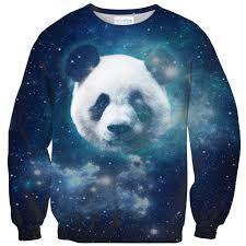 galaxy sweater galaxy panda sweater shelfies