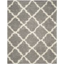 Safavieh Rug by Shop Safavieh Dallas Shag Gray Ivory Rectangular Indoor Machine