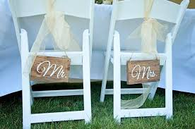 wedding chair signs mr and mrs wedding chair signs rustic wedding chair signs
