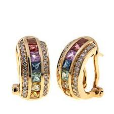 gold diamond earrings gold earrings hsn