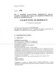 chambre correctionnelle cour d appel arrêt de la cour d appel de bordeaux