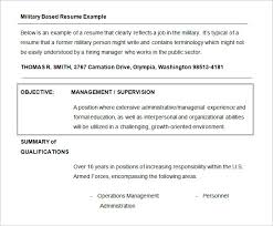 Military Resume Examples by Example Of Military Resume Military To Civilian Resume Sample