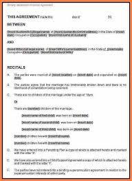 sample cohabitation agreement de facto separation agreement
