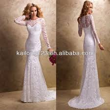 wedding dress lace back and sleeves aliexpress com buy nostalgia fit and flare skirt zipper back