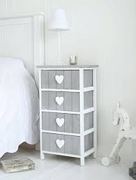 side table shabby chic bedside tables white heart cottage grey