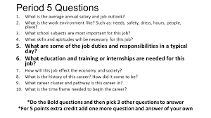 Good Personality Traits For A Job Period 1 Questions 1 What Interests And Personality Traits Would