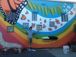 Mural Project by Youth Corps Student Malik U0027s Butterfly Mural Project Comes To Life