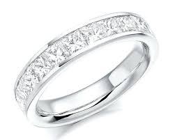 Princess Cut Diamond Wedding Rings by Channel Set Princess Cut Diamond Engagement Ring 1 Channel Set