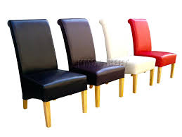 Scroll Back Leather Dining Chairs Leather Dining Chair Pads Leather Dining Chair Faux
