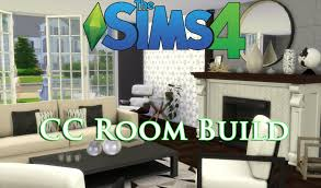 build a living room the sims 4 cc house build episode 1 livingroom youtube