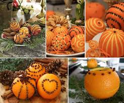 carved oranges and cloves table decor diy cozy home